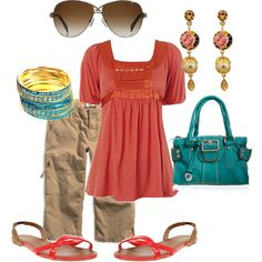 Coral, created by elleandbee on Polyvore