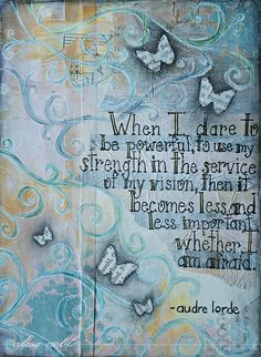 """__ⓠ Audre Lorde """".dare to be powerful."""" ___ by Alisa Noble My Journal, Art Journal Pages, Art Journaling, Altered Books, Art Journal Inspiration, Journal Ideas, Audre Lorde, Mixed Media Collage, Arts And Crafts"""