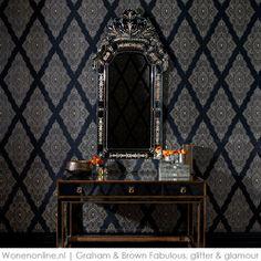 Fabulous, glitter & glamour #behang Graham and Brown #wonenonline.nl