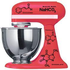 kitchenaid mixer decals graphics | kitchen aid molecule chemistry mixer decal. Pretty pricey at $34.95 ...