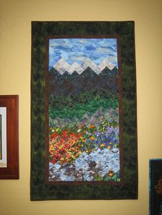 Art Quilt Mountain Splendor Wall Hanging. $400.00, via Etsy.