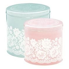 GreenGate Tin Boxes Round Liva Set Of 2 Pieces