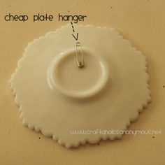 how to make your own plate hangers and holders. Hang Plates ...  sc 1 st  Pinterest & Without plate hangers | Plate hangers Hanger and Walls