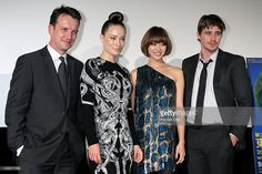 Producer Sean Bally, actress Olivia Wilde, model Yu Yamada and actor Garrett Hedlund pose during the 'Tron: Legacy' 3D