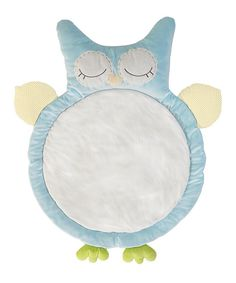 Lolli Living Aqua Owl Play Mat   zulily