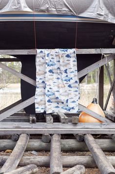 Ahti Fabric   Pentik  The tablecloth or curtains made of Ahti fabric are perfect for summer cottage or small fisherman's room, for example. This fisherman's favourite design brings to mind those hazy summer mornings, fishing trips and loon cries, both in the cottage and at home. Designed by Lasse Kovanen, this fabric describing the God of Depths attracts both smaller and bigger fishermen.