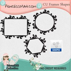 Free Photoshop Frames Shapes Free Digital Scrapbooking Kits