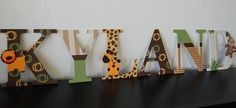 Baby Cocoa Nursery Jungle Wall Letters by LoveBbyCarrie on Etsy Jungle Bedroom, Jungle Nursery, Jungle Theme, Wooden Wall Letters, Letter Wall, Getting Ready For Baby, Expecting Baby, Baby Boy Nurseries, Baby Boy Shower