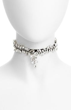 Free shipping and returns on Cristabelle Crystal Choker Necklace at Nordstrom.com. Sparkling navette crystals set to resemble a crawling botanical vine illuminate the dark velvet band of an elegant choker necklace.