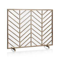 Decorative Iron Fireplace Screen In Silver Leaf Finish