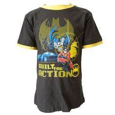 Tee-Camiseta de manga corta, diseño de Batman gris 4 años #camiseta #realidadaumentada #ideas #regalo