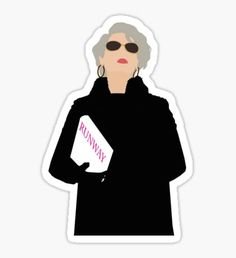 """Miranda Priestly- The Devil Wears Prada"" Stickers by thefilmartist Meme Stickers, Tumblr Stickers, Phone Stickers, Printable Stickers, Planner Stickers, Miranda Priestly, Red Bubble Stickers, Devil Wears Prada, Aesthetic Stickers"