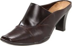 "Price : $ 39.95--------- AEROSOLES WOMEN'S CINCTURE MULE----- Color: Dark Brown/Black -- Synthetic--------- Rubber sole--------- Heel measures approximately 2 1/2""--------- Faux leather upper--------- Rubber outsole--------- 1/4""--------- Sueded--------- CINTURE---------"