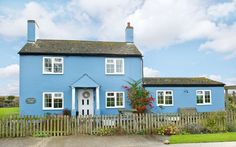 Blue property in Newton Blossomville, Buckinghamshire