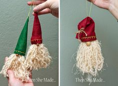 13 adorable DIY Santa Ornaments Kids Can Make! Perfect for Christmas gifts for teachers, coaches, grandparents, and even Santa Claus! He will love it! Teacher Christmas Gifts, Christmas Ornaments To Make, Santa Ornaments, Christmas Gnome, Ornament Crafts, Homemade Christmas, Christmas Projects, Holiday Crafts, Christmas Holidays