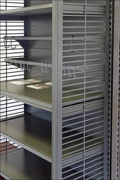 Euro Fixture: Mystery Reverse J-Hook at Shelf Edge – Fixtures Close Up Material Library, Clever Diy, Pet Shop, Store Design, Closets, Hooks, Blinds, Organize, Mystery