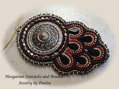 Вышивка бисером ожерелье.  Ювелирные изделия из бисера.  по PanitaJewellery, $ 98,00: