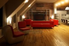 Hardwood floors will give your home a sophisticated look that will lure in potential buyers when you decide to sell your house. Hardwood Floors, Flooring, Closet System, Selling Your House, Murphy Bed, Closet Doors, Home Theater, Sweet Home, Living Room