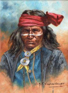 Old west artist Jeroen Vogtschmidt Apache Native American, Native American Artwork, Indian Artwork, Indian Paintings, Native Indian, Native Art, Indian Pictures, Indian Pics, Military Figures