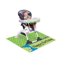 It's your little boys 1st birthday party and this kit will make it special. Grab this Wild At One zebra high chair party kit, and party like the king of the jungle. This fun kit include a plastic spil
