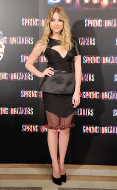 Ashley Benson's LBD has a little too much going on.