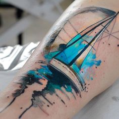 Sailboat by Aleksandra Katsan. http://tattooideas247.com/sailboat/