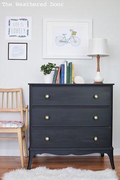 Black milk paint dresser ❤️