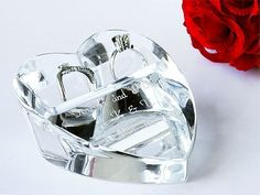 クリスタルの様に輝く♡ガラスでできたハート型リングピローが可愛すぎ*にて紹介している画像