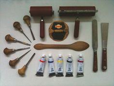 Linocut tools by linocutboy, via Flickr