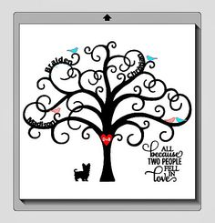 DIY Family Tree with Vinyl by My Paper Craze