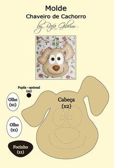 Molde - chaveiro de cachorro