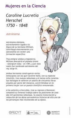 Caroline Herschel, Female Heroines, Facts About People, Philosophy Of Science, Curious Facts, Reading Practice, School Study Tips, Book Challenge, Teaching Social Studies