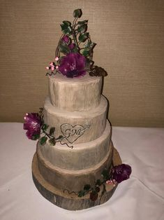 Woodland wedding cake all four tier's were made of fruit cake. Woodland Wedding, Wedding Cakes, Fruit, Desserts, Food, Wedding Gown Cakes, Tailgate Desserts, Deserts, Forest Wedding