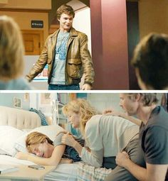 The shirt Hazel is wearing when she finds out Gus has died is the shirt he wore when they first met♡