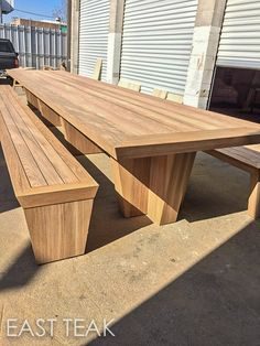 Check out this amazing Huge Teak Table one of our customers supplied teak lumber for. It's size is amazing. We carry Teak Lumber in all sizes.