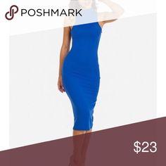 NEVER USED, cute blue dress Cute blue dress.                                                                                                                                                                                                                                                                                        🌸 Fast shipper 🌸 Accept reasonable offers 🌸 I do bundle discounts too                                🌸 No trades Dresses Midi