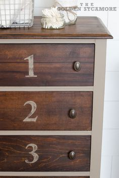 Numbered Bathroom Cabinet    The Golden Sycamore
