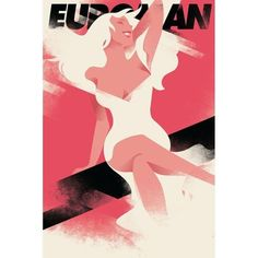 Mads Berg 'Euroman' Art Deco Danish Poster ($100) ❤ liked on Polyvore featuring home, home decor, wall art, comic book posters, cartoon posters, comic posters, comic book wall art and cartoon illustration