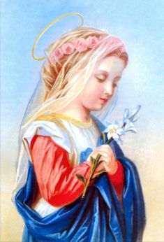 The Blesssed Virgin Mary as a young girl- beautiful!
