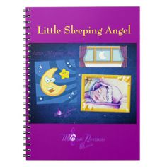 Little #Sleeping #Angel #Notebook #moondreamsmusic #baby #moon #stars