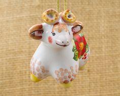 Lamb vintage ornament. Majolica ornament Lamb . Grey lamb figurine. Farm animal figurine. Ceramic lamb. Small lamb figurine. Christmas gift (13.99 USD) by AnnaLuninGiftShop