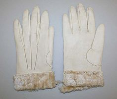 Gloves, Early 19thc., American or European, Made of leather and wool