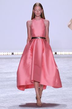 Sorry, Felicity. There's simply not enough Dior to go around with you, Jennifer Lawrence, Marion Cotillard, and, like, 12 minor starlets sharing. That's why we chose this pink Monique Lhuillier number, which has all the full-skirted goodness the Theory of Everything actress prefers and none of the copy-cat factor. Enjoy!   - MarieClaire.com