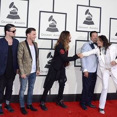 30STM at the Grammy's 2014.