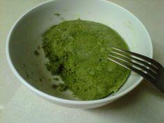 Green Tea Microwave Cake with matcha powder
