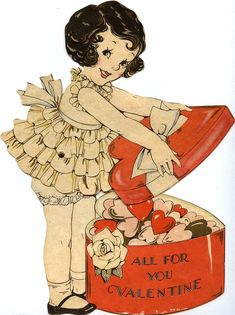 Adorable Art Deco Valentine, ca. 1930s