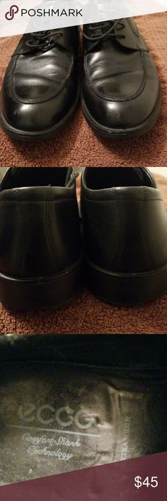Ecco Dress Shoe Size 12 GUC.... STYLISH... COMFORTABLE... Euro 46 = US 12 Some Scuff Marks Ecco Shoes Oxfords & Derbys