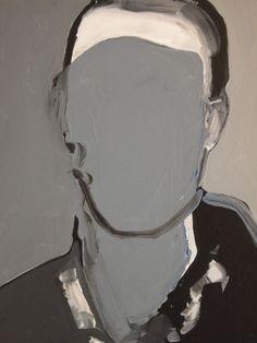 """Saatchi Online Artist: Miguel Laino; Acrylic 2013 Painting """"Portrce n'est pas un portrait/2"""""""