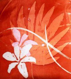 Batik en seda natural.