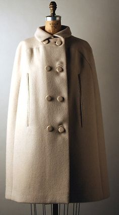 Norman Norell Wool Cape, 1963-64